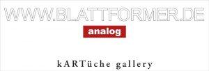 """2012 – """"BLATTFORMER – analog"""", kARTüche, Berlin"""