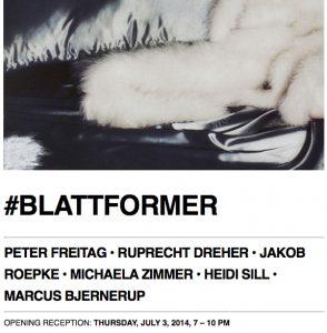 """2014 – """"BLATTFORMER"""", LAGE EGAL – Raum für aktuelle Kunst, Berlin"""
