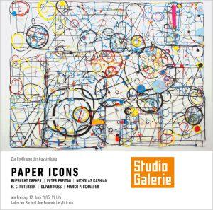 """2015 – """"PAPER ICONS – The Dark Matter"""", Projektraum im Haus am Lützowplatz, Berlin"""